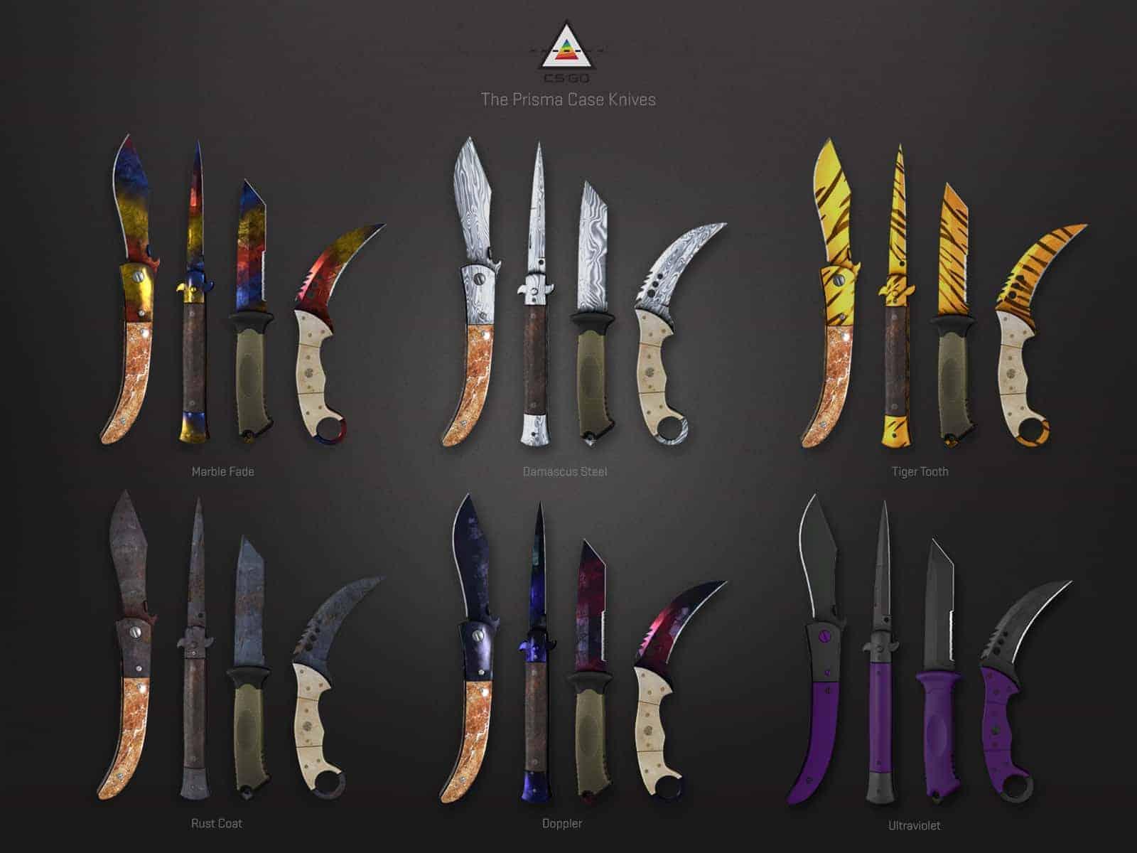 prisma case22 knives