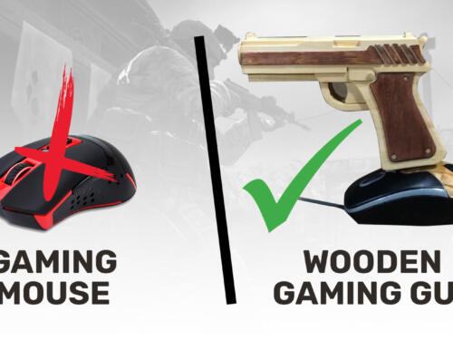 User Replaces Mouse With Custom Wooden Gaming Gun to Play CS:GO 1
