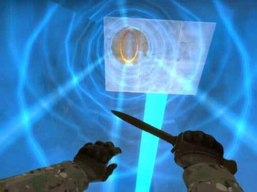 You can now play Portal in CS:GO with this mod 2