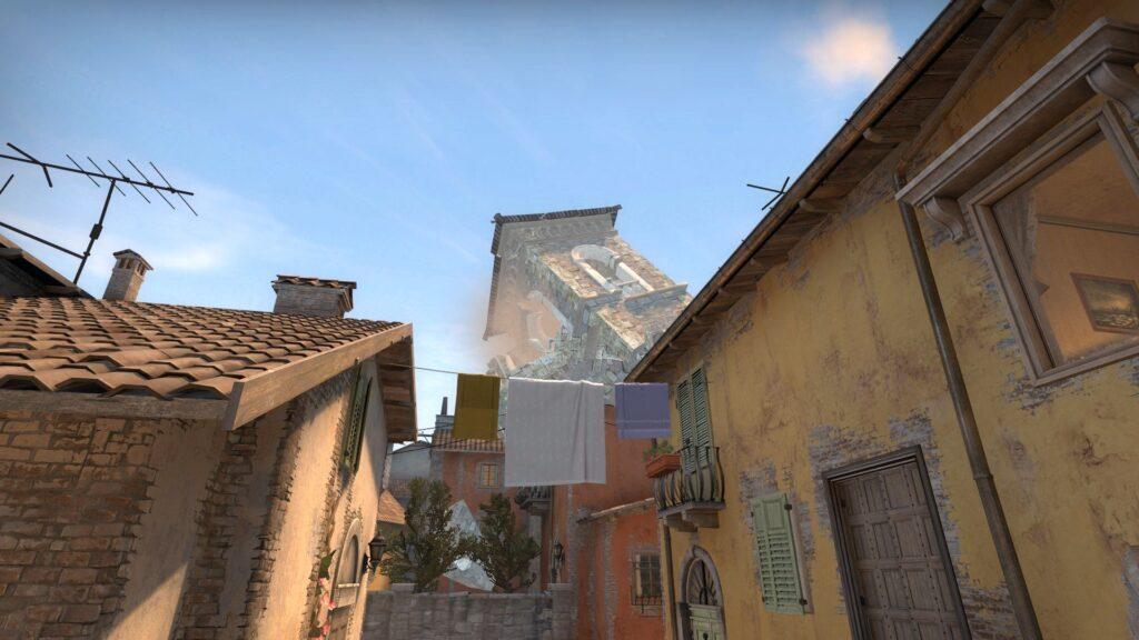 csgo inferno destruction fan map tower